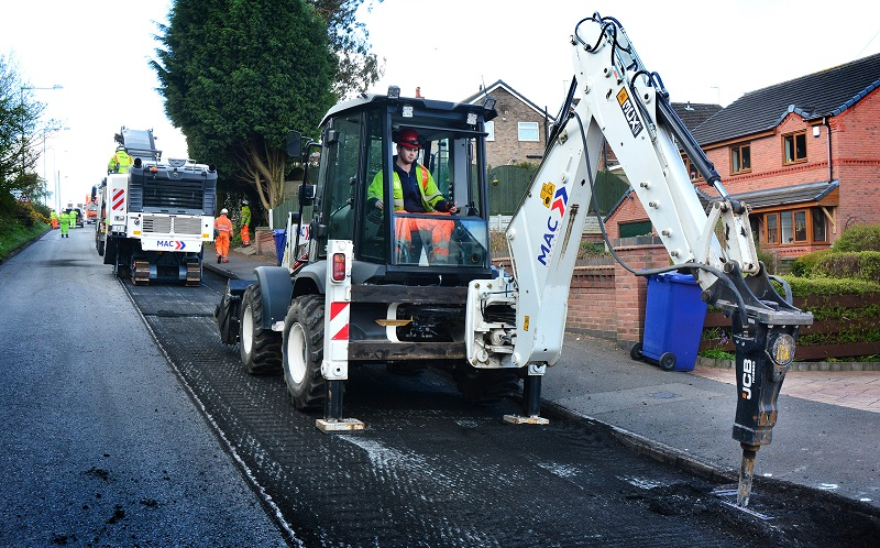 MAC Buys JCB Backhoes for Road Surfacing Work