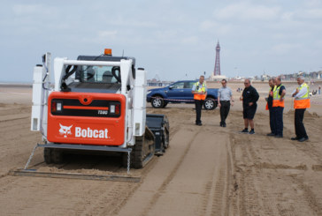 Bobcat Lights Up Blackpool