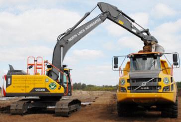 Trio of Volvo Machines at North Lincs