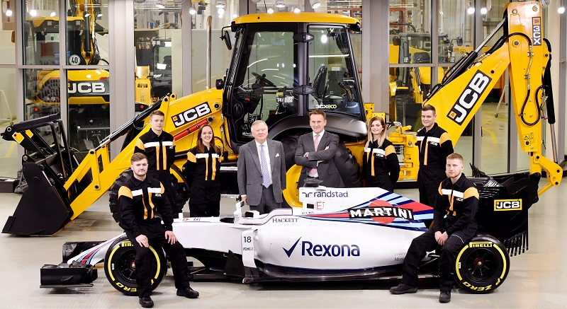 JCB Racing Partnership with Williams Martini - Construction Plant News