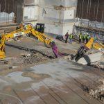 Demolishing With Komatsu Excavators