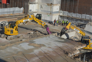 Demolishing With Komatsu Excavators