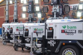 BAM Nuttall Expands Their Fleet of LED Site Lighting Towers