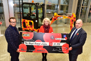 JCB Digs Deep for Royal British Legion Poppy Appeal