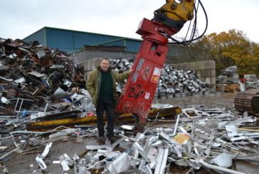 Michael Douglas Auto Salvage invest in LaBounty scrap shear from ECY Haulmark