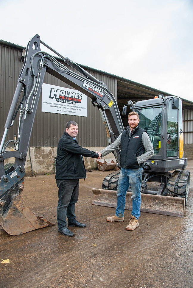 Holmes Plant and Construction take on seven Volvo excavators