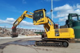 Three Komatsu PC210LCD-11's with elevated cabs for Ridgway Rentals