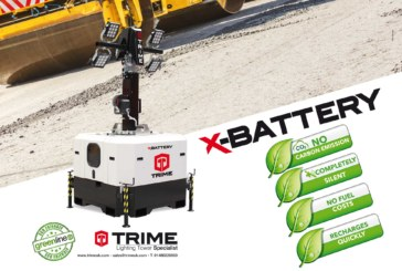 Trime's X-BATTERY tower light nominated at the Hire Awards of Excellence