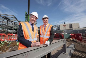 Wolverhampton railway station phase one steel frame close to completion