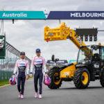 JCB Loadall limber up for Australian Grand Prix