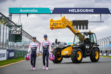 JCB Loadall limber up for Australian Grand Prix