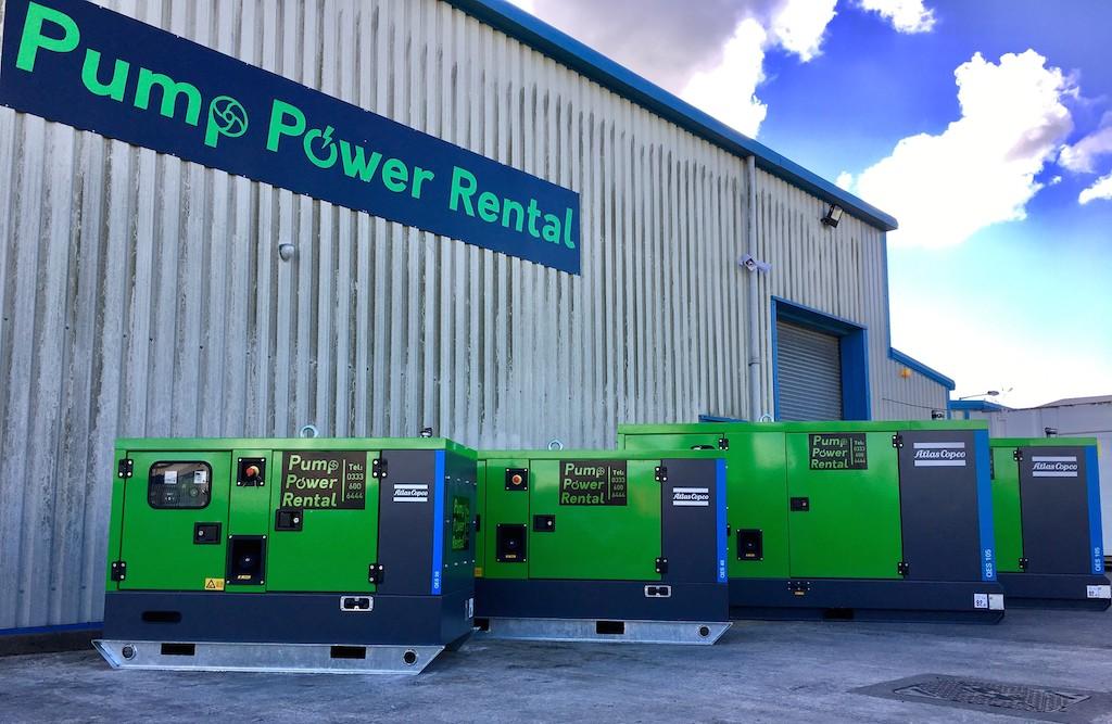 Pump Power Rental reinvests in Atlas Copco generators and