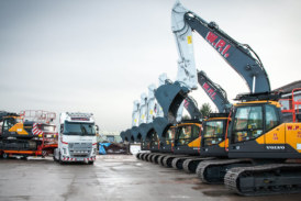 WPI take delivery of a new fleet of Volvo Excavators