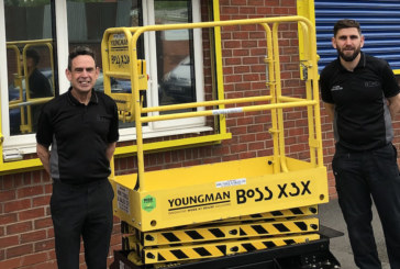 Prize Youngman scissor lift goes straight out on hire