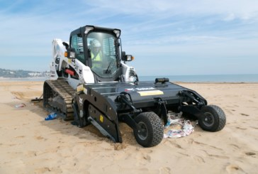 Bobcat Sand Cleaner Combats Plastic Peril on Beaches