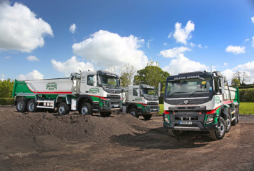 Three new Volvo FMX tippers raise the stakes at Kelston Sparkes Group