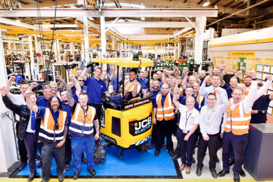 First 50 orders delivered as electric JCB digger in full production