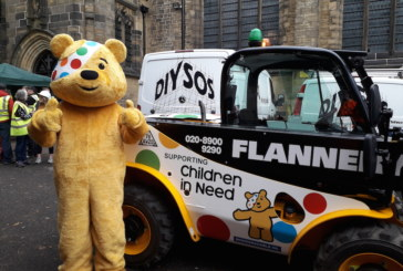 Flannery Plant Hire put spotty machines to work for DIY SOS Children in Need Special