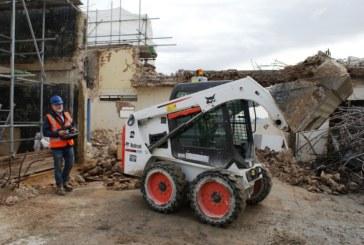 UK's first Bobcat remote control loader in demolition