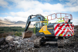First Volvo excavator for A&L McCrae