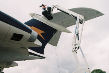 Essential maintenance works on aircraft at Duxford by Rapid Platforms