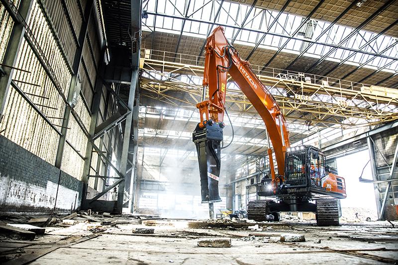 New hydraulic breaker range from Hitachi