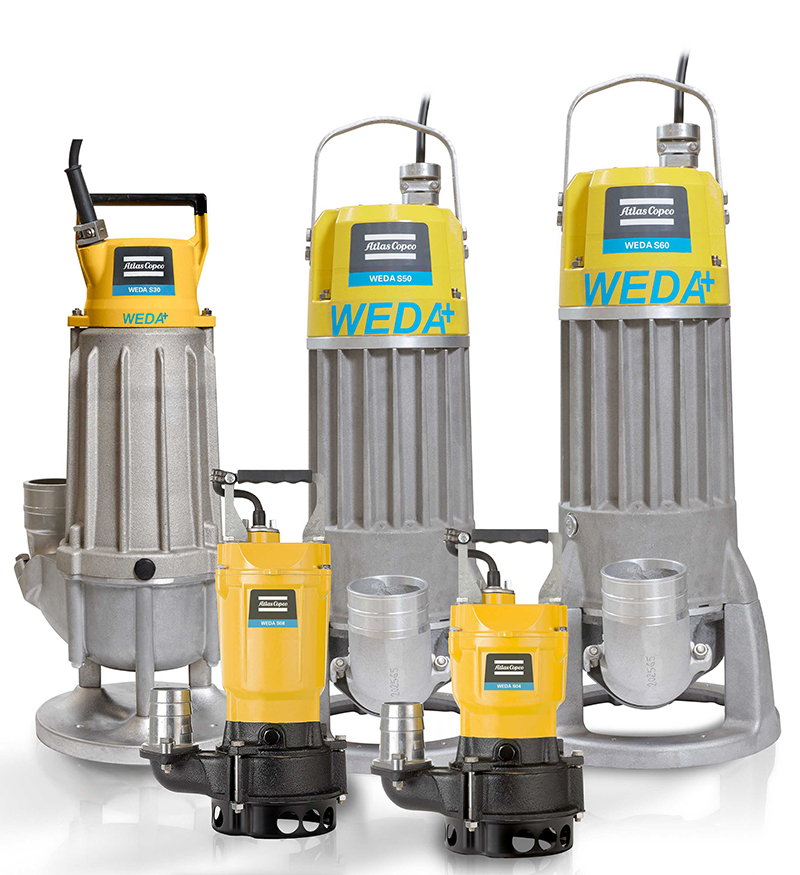 Atlas Copco expands WEDA range with S50 Sludge pump