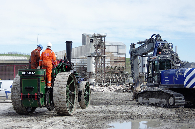 AR Demolition use a McLaren traction engine from 1918
