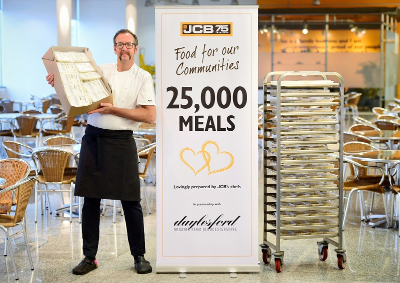 Milestone for JCB's 'Food for our Communities'