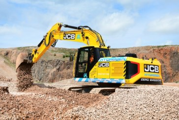 First ever hydrogen powered excavator from JCB