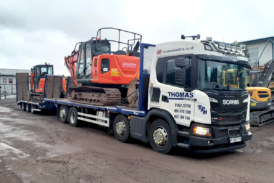 Four more plant bodies from Andover Trailers delivered into Thomas Plant Hire