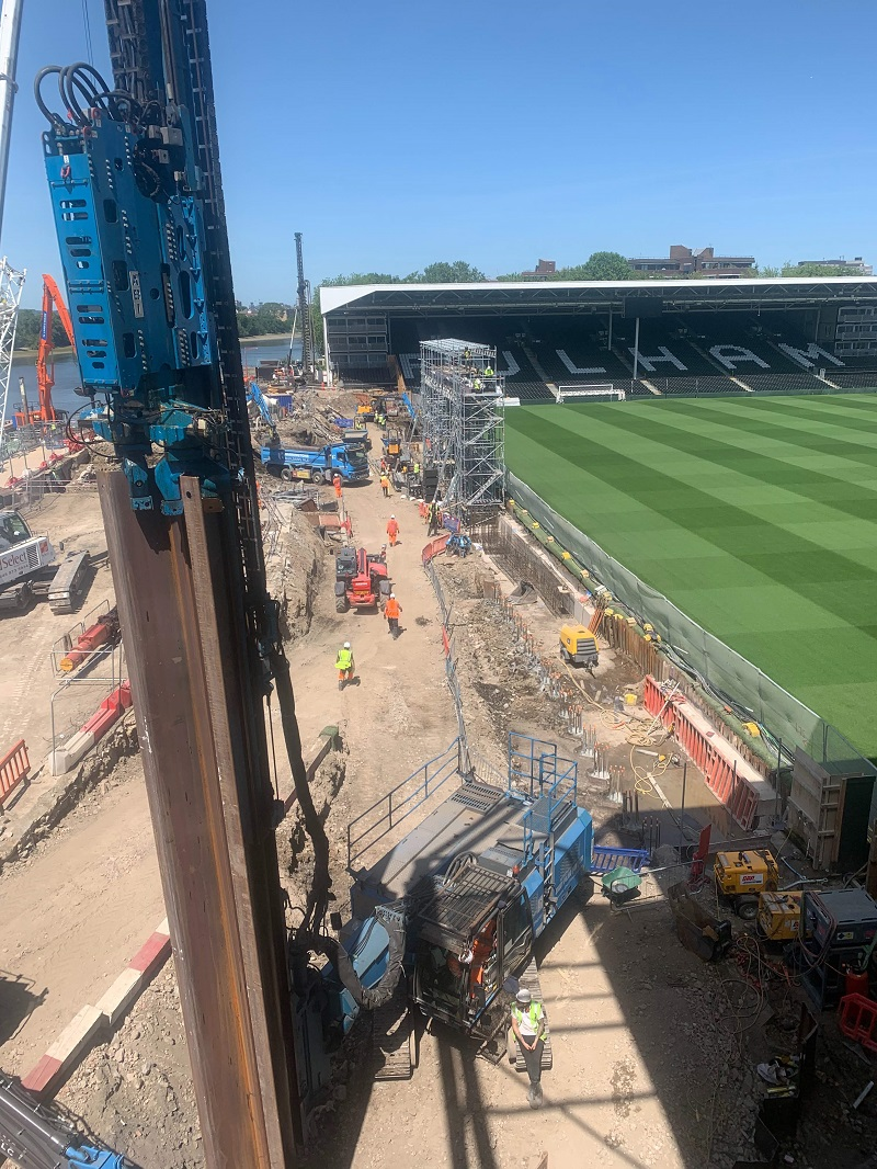 Sheet Piling UK boosts Fulham FC's support