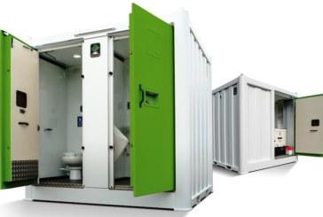 Genquip Groundhog celebrate a Green Apple Award for their Unisex Solar Hybrid Toilet