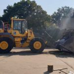 A bespoke Volvo L110H loading shovel takes charge at Nuffield Road Household Waste Recycling Centre