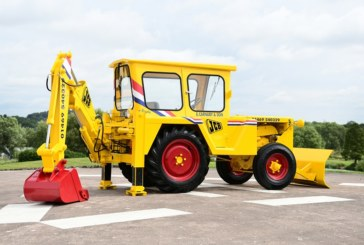 Vintage JCB machine restored to former glory