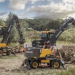 Volvo extends material handler range and reach with the EW200E & EW240E