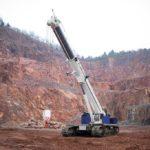 The new Tadano GTC-1800EX telescopic boom crawler crane