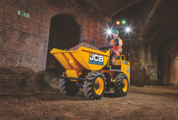 JCB adds first electric model to popular site dumper range