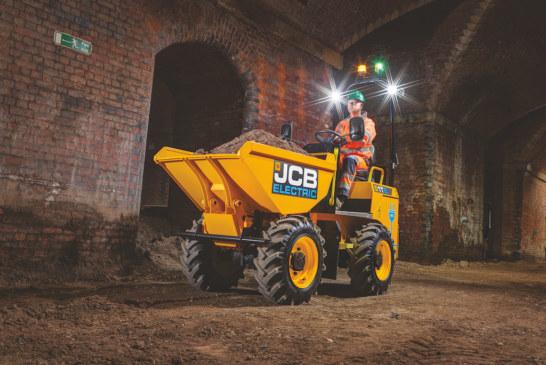 JCB adds first electric model to popular site dumper range
