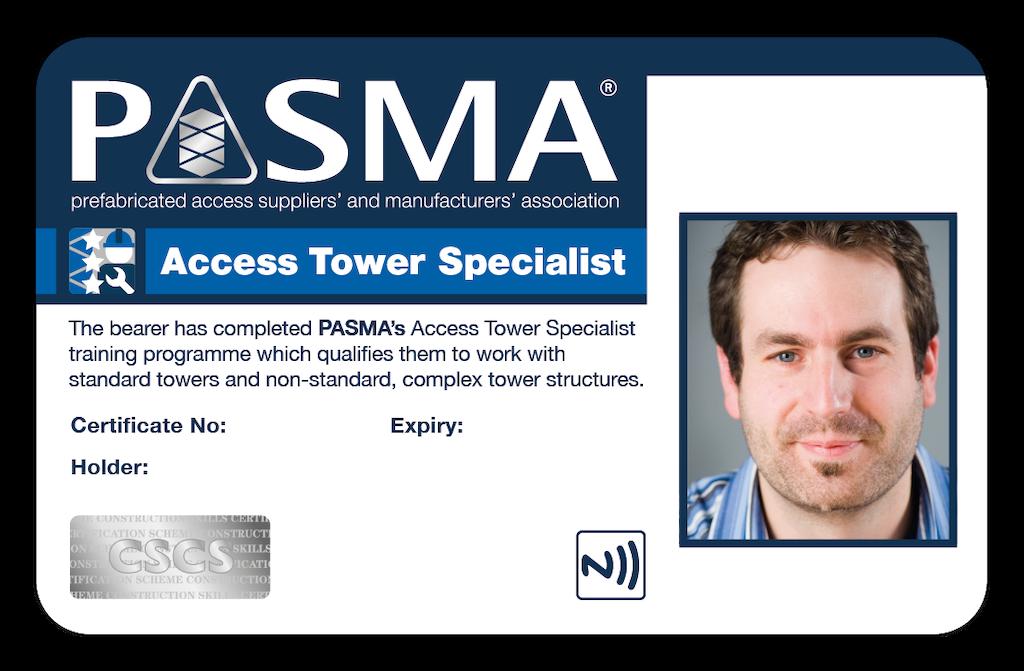 PASMA joins CSCS Partner Card Scheme