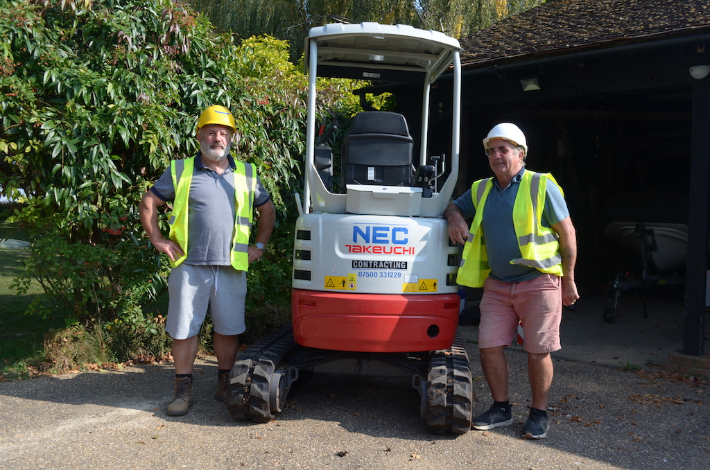 NEC Contracting & Takeuchi   Laying the groundwork