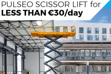 PULSEO scissor lift for less than €30/Day