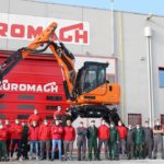 Engcon supplies tiltrotators to the world's largest spider excavator the Euromach R145