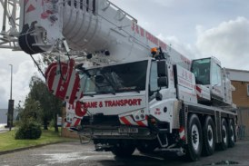 J & M Crane and Transport Ltd takes delivery of brand new Tadano ATF-100-4.1 all terrain crane