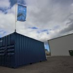 'UK first' container flagpole innovation launched for construction companies