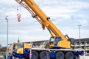 The new Demag AC 80-4 all terrain crane