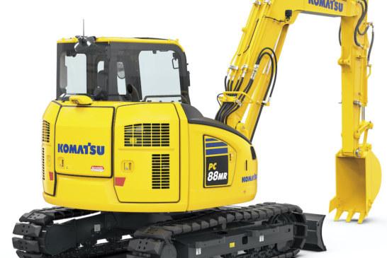 Komatsu announce the new PC88MR-11 Midi Excavator