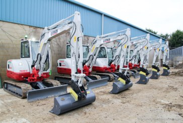Lynch Plant Hire's new Takeuchi minis fitted with GKD machine guidance safety system