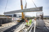 Winvic lifts 440 tonnes of concrete bridge beams over the A5 at DIRFT III Rail Project