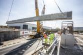 Winvic lifts 440 tonnes of concrete bridge beams over the A5 at DIRFT III Rail Project
